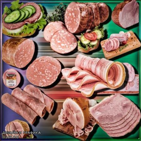 Png клипарты без фона - Сочная колбаса