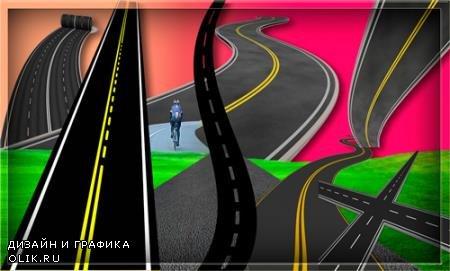 Png клипарты - Асфальтированные дороги