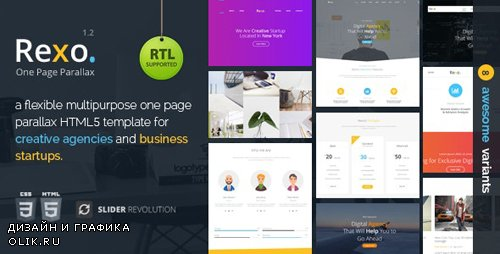 ThemeForest - Rexo v1.2 - One Page Parallax - 20887090