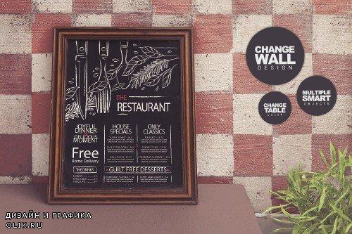 Chalkboard Restaurant Mockup - 4064699
