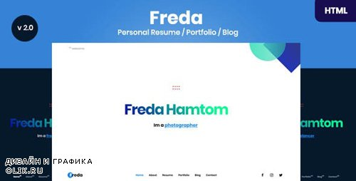 ThemeForest - Freda v2.0 - Personal Resume / Portfolio / Blog / HTML Template - 24485009