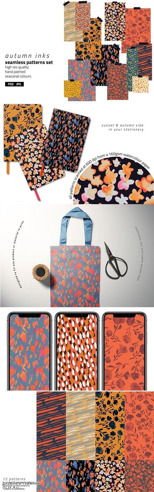 Autumn Inks Pattern Set - 4084125