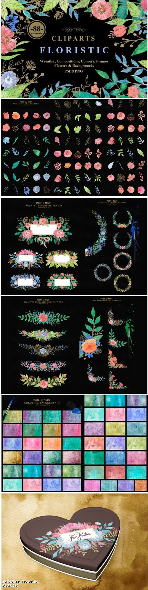 Collection of Floristic Cliparts - 2327546
