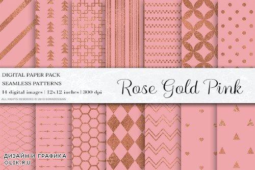 Rose Gold Pink Seamless Patterns - 4101717