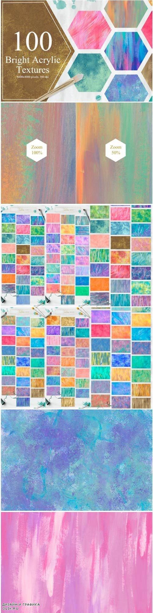100 Bright Acrylic Textures - 2818018