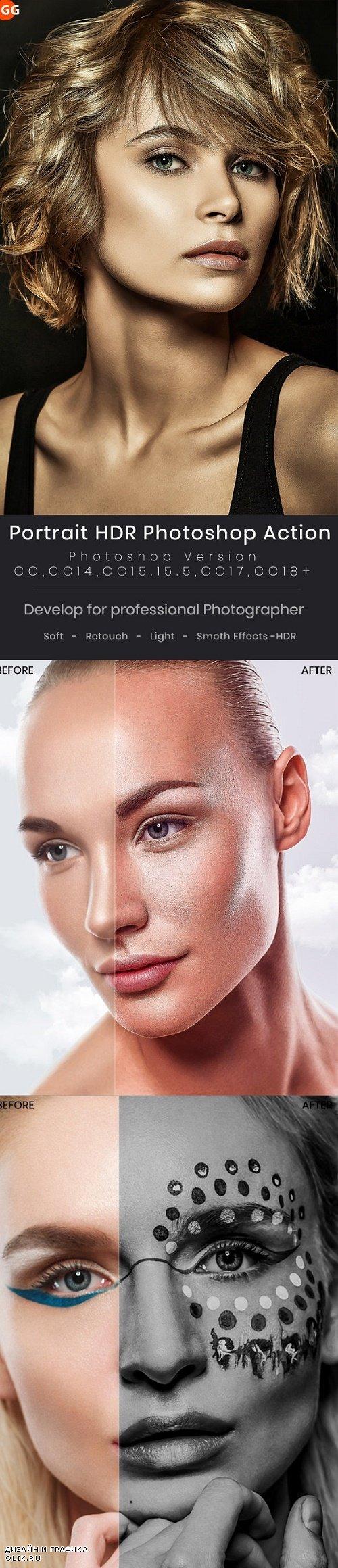 Portrait HDR Photoshop Action - 24419610