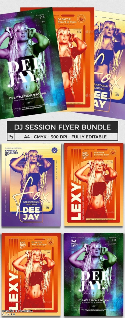DJ Session Flyer Bundle V3 - 24577725 - 4090538