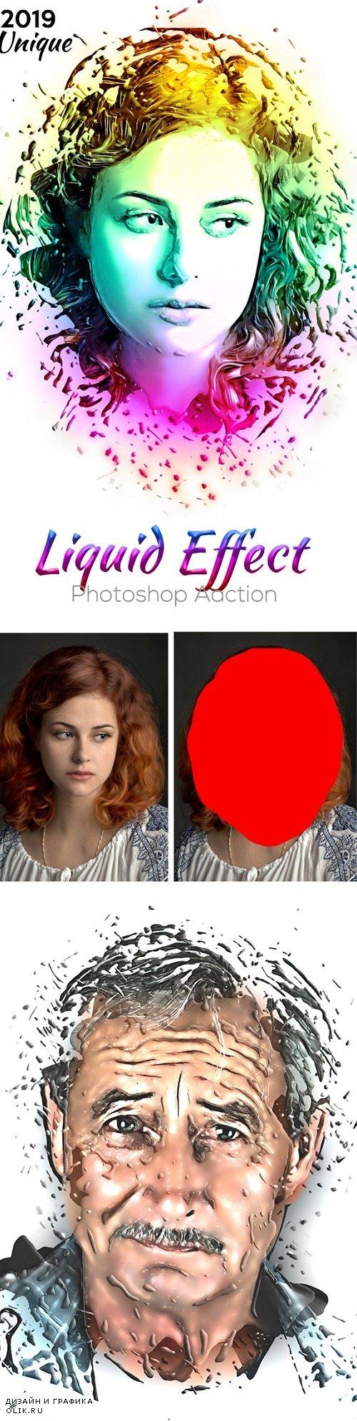 Liquid Effect Photoshop Action 24420163