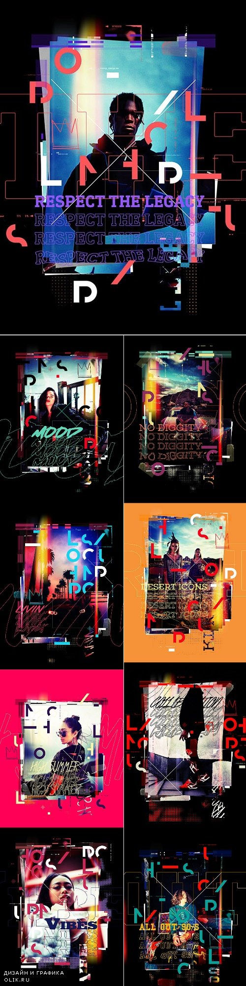 Lomography Typography Poster PHSP Action - 24518011