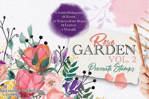 Rose Garden Procreate Stamps VOL. 2 - 3742611