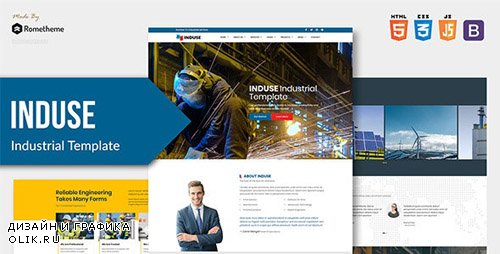 ThemeForest - INDUSE v1.0 - Industrial Services HTML Template - 24642530