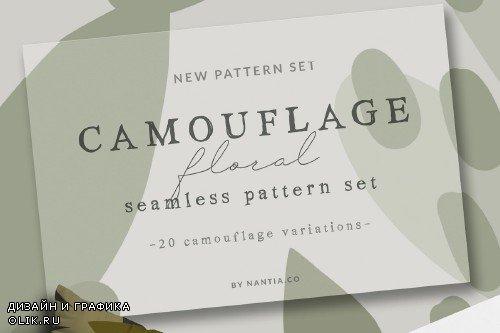 Camouflage Floral Pattern Set - 4090937