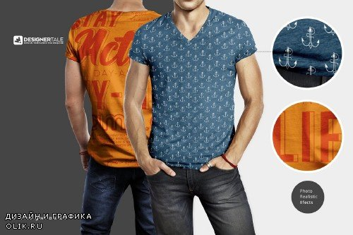 Muscular Men T Shirt Mockup Template - 4108691