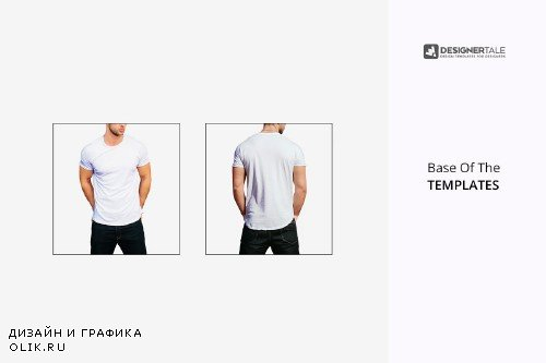 Round Neck Men T Shirt Mock Up - 4107569