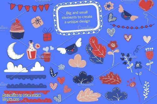 Crazy Love - Valentine Cartoon Animal Bundle - 3342044