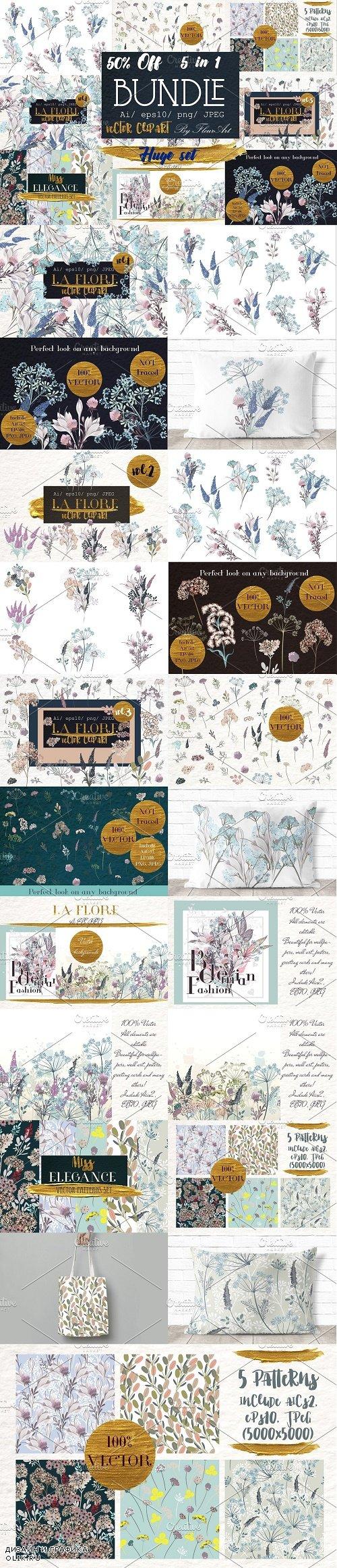 Flora Huge illustration bundle - 2988387
