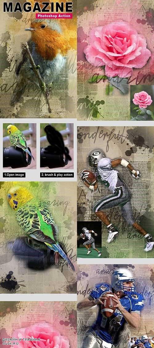 Magazine - Photoshop Action 24496852