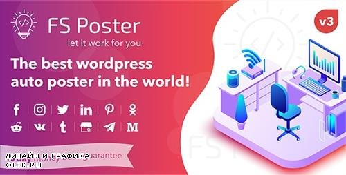 CodeCanyon - FS Poster v3.2.2 - WordPress Auto Poster & Scheduler - 22192139 - NULLED