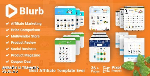 ThemeForest - Blurb v2.0 - Price Comparison with Review base Multivendor Coupon Store Affiliate Marketing HTML Template (Update: 19 September 18) - 20880845