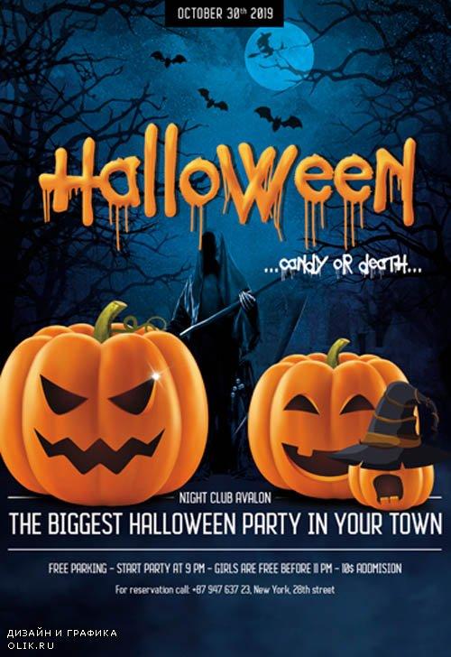 Halloween V27098 2019 Premium PSD Flyer Template
