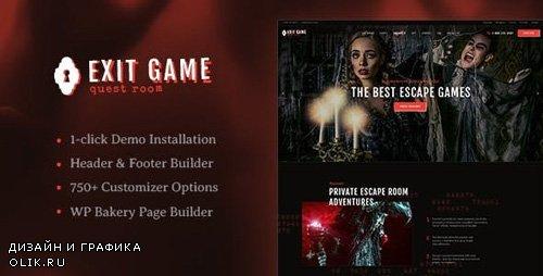 ThemeForest - Exit Game v1.2.1 - Real-Life Secret Escape Room WordPress Theme - 21902031