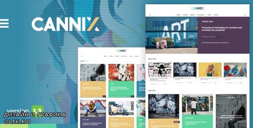 ThemeForest - Cannix v1.3.2 - A Vibrant WordPress Theme for Creative Bloggers - 21934514