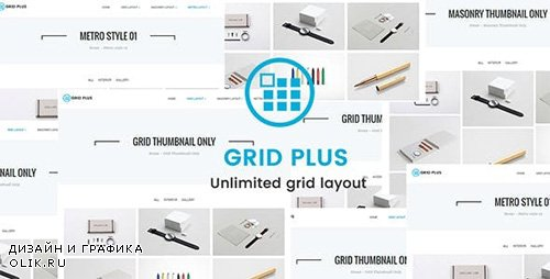 CodeCanyon - Grid Plus v2.3 - Unlimited Grid Layout - 19444153