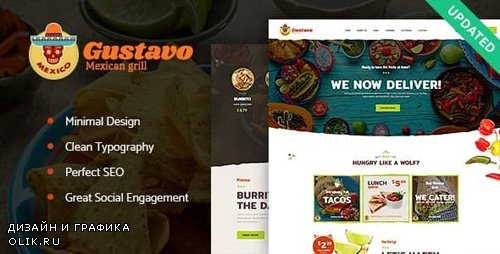 ThemeForest - Gustavo v1.2.2 - Mexican Grill, Bar & Restaurant WordPress Theme - 19719166