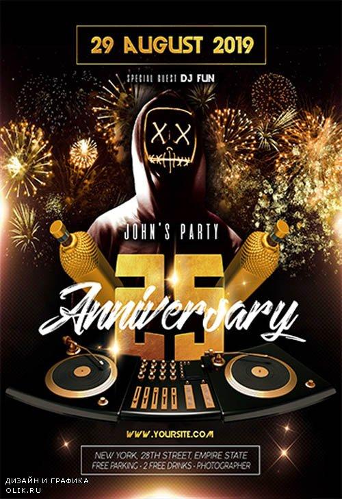 Anniversary V2709 2019 Premium PSD Flyer Template