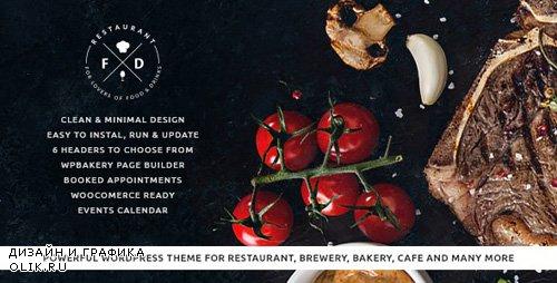 ThemeForest - Food & Drink v1.5.2 - An Elegant Cafe & Restaurant WordPress Theme - 13706422