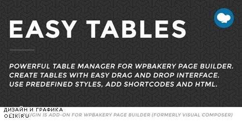 CodeCanyon - Easy Tables v2.0.1 - Table Manager for WPBakery Page Builder - 5559903