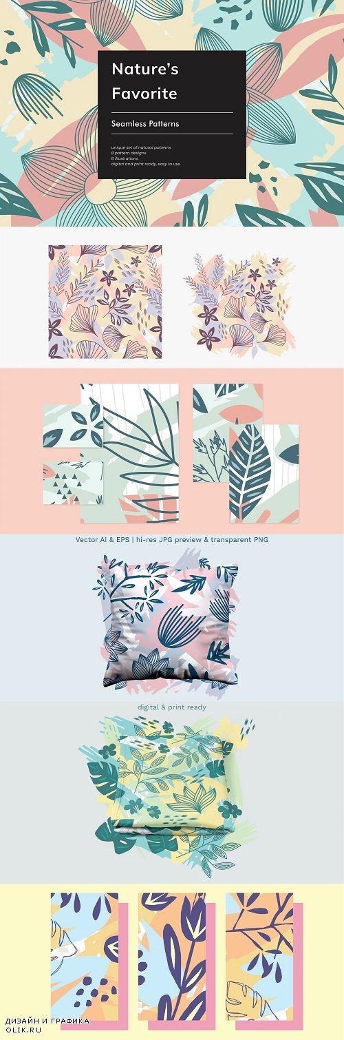 Nature's Favorite Seamless Patterns - 3874658