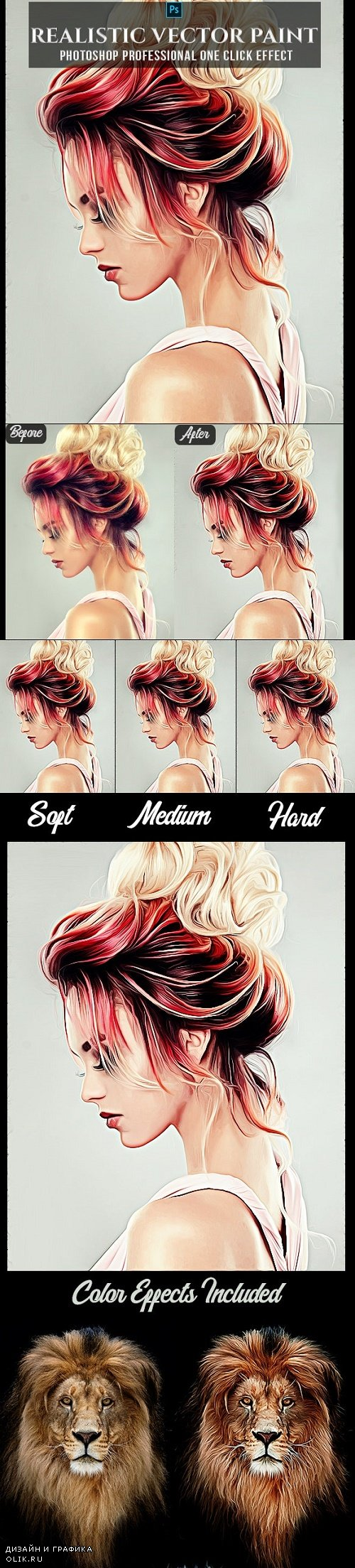 Realistic Vector Painting Photoshop Action 24510257