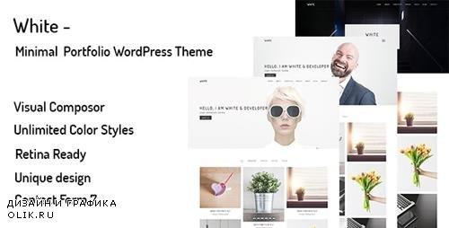 ThemeForest - White v1.0.0 - Minimal Portfolio WordPress Theme - 20051512