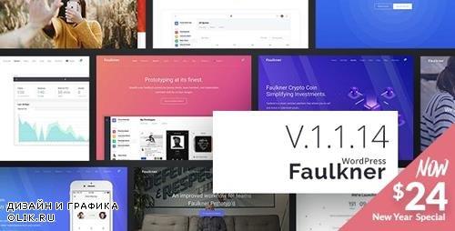 ThemeForest - Faulkner v1.1.14 - Responsive Multiuse WordPress Theme for Companies and Freelancers - 22686458
