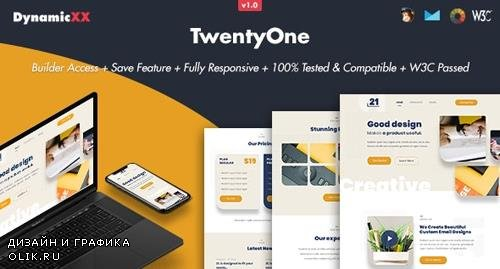 ThemeForest - TwentyOne v1.0 - Responsive Email + Online Template Builder - 24482772