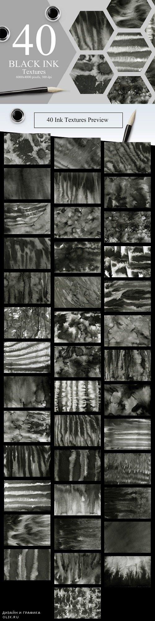 40 Black Ink Textures - 2216658