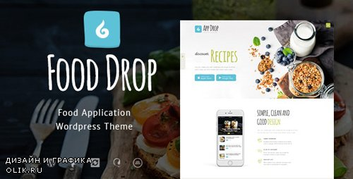 ThemeForest - Food Drop v1.3 - Meal Ordering & Delivery Mobile App WordPress Theme - 19357492