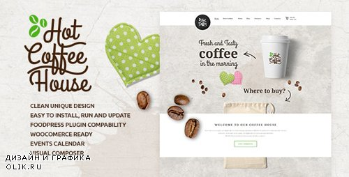 ThemeForest - Hot Coffee v1.7 - Cafe / Restaurant / Bar WordPress Theme - 15103849
