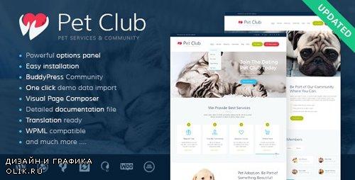 ThemeForest - Pets Club v2.3 - Pet Shop & Breeding Veterinary WordPress Theme - 12949703