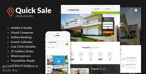 ThemeForest - Quick Sale v3.0.1 - Single Property Real Estate WordPress Theme - 11004473