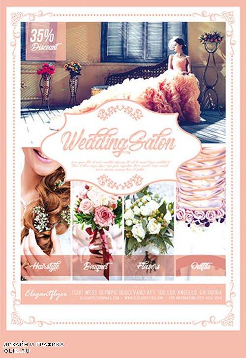 Wedding Salon V0310 2019 PSD Flyer Template