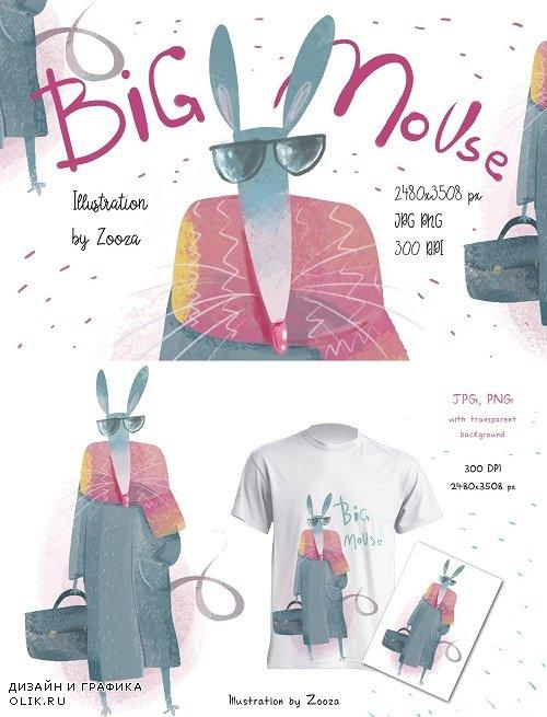 Big Mouse craft illustration - 4171197