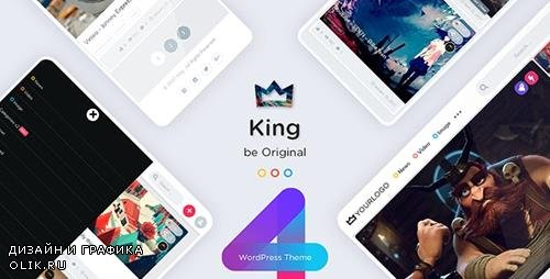 ThemeForest - King v4.0 - WordPress Viral Magazine Theme - 19436704 - NULLED