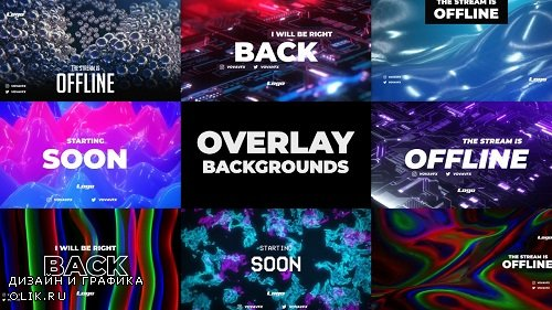 Twitch Overlay Background Pack 295314 - After Effects Templates