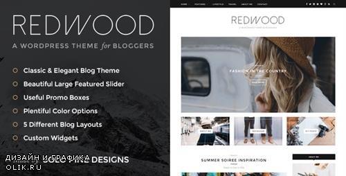 ThemeForest - Redwood v1.7.1 - A Responsive WordPress Blog Theme - 11811123