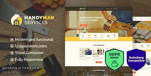 ThemeForest - Handyman v1.4 - Construction and Repair Services Building WordPress Theme - 17159886