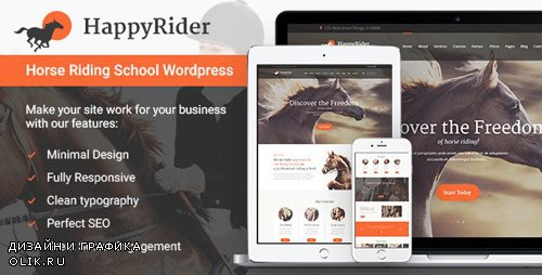 ThemeForest - Happy Rider v1.6 - Horse School & Equestrian Center WordPress Theme - 13150971