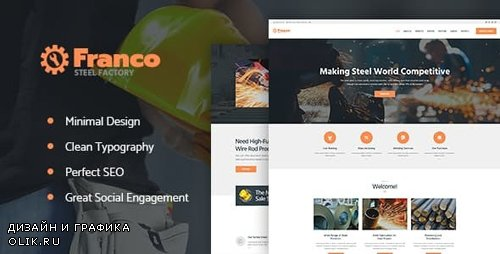 ThemeForest - Franco v1.2.1 - Steel Factory & Industrial Plant Manufactoring WordPress Theme - 20522031