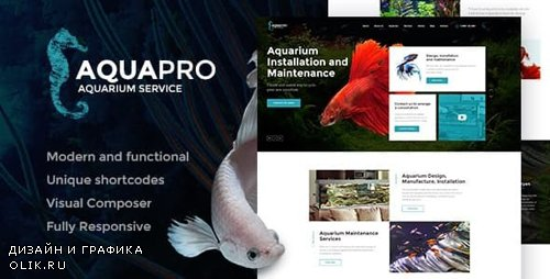ThemeForest - AquaPro v1.1.1 - Aquarium Installation and Maintanance Services WordPress Theme + Store - 19811882